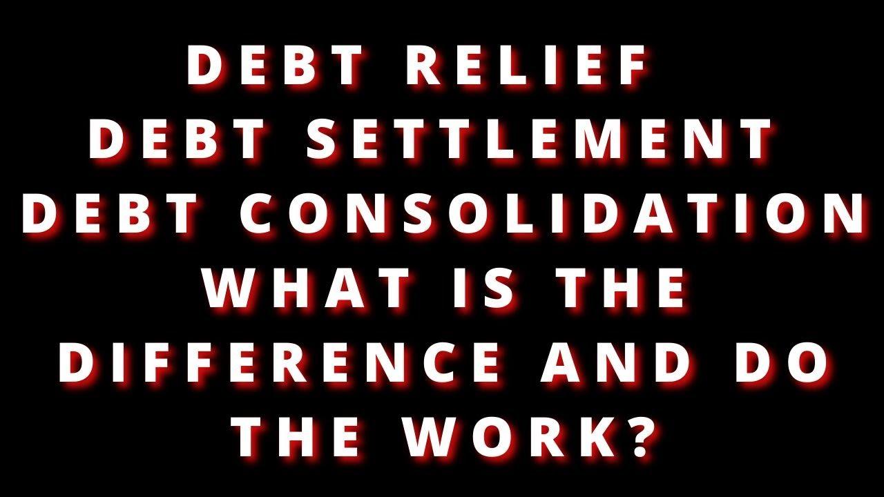 debt-relief-debt-settlement-debt-consolidation