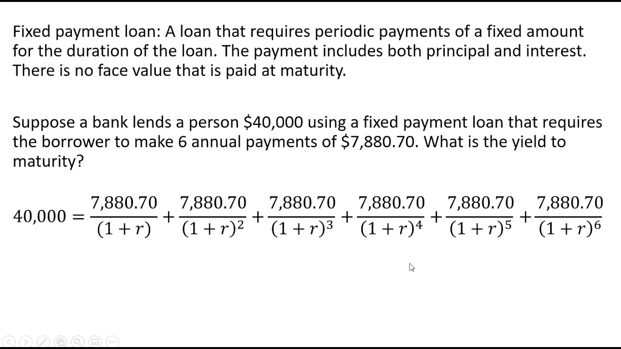 loan-maturity-fixed-payment-loan-how-to-solve-yield-to-maturity