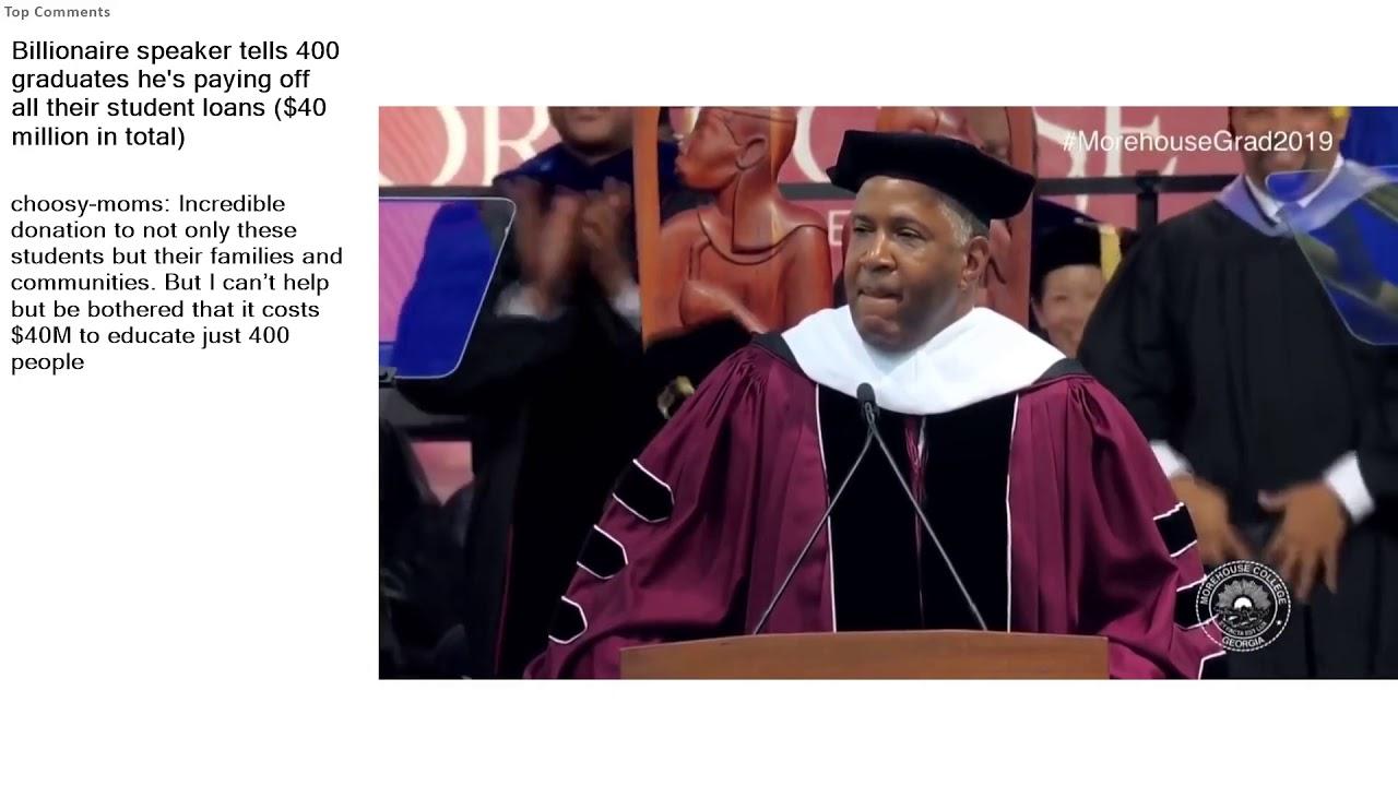 reddit-student-loans-top-reddit-video-public-freakout-billionaire-speaker-tells-400-graduates-hes-paying-off-all
